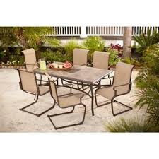 Home Depot Patio Table And Chairs Hton Bay Belleville 7 Patio Dining Set Fcs80198st At