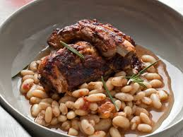slow cooker glazed pork ribs with white beans recipe melissa