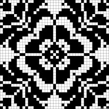 ornamental chart for cross stitch knitting knotting beading