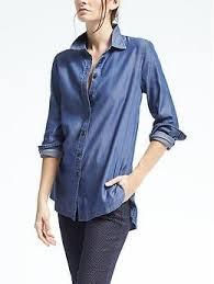 chambray blouse tunic fit tencel chambray shirt banana republic