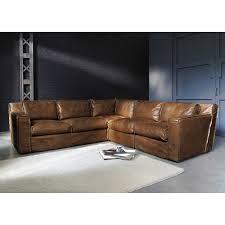 canapé d angle vintage canapé d angle vintage 4 places en cuir cognac déco