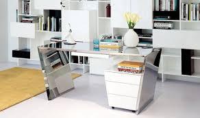 Chrome Office Desk Modrest Clif Modern Chrome Office Desk Cabinet In Chrome White