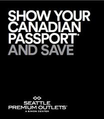 seattle premium outlets show your canadian passport save