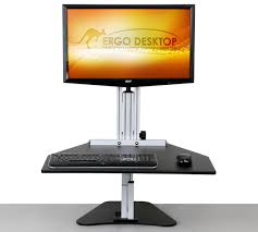 Sit Stand Desk Converter by Kangaroo Pro Adjustable Height Desk Ergo Desktop