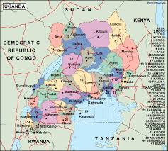 Map Of Uganda Uganda Political Map Vector Eps Maps Order And Download Uganda