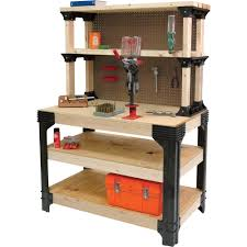 garage garage workbench with drawers wooden materials table