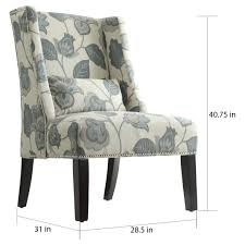 dorchester wingback nail head accent chair free shipping today