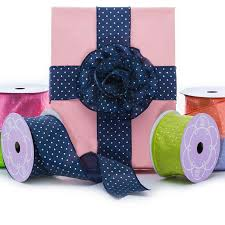 taffeta ribbon metallic dot taffeta ribbon shop papermart