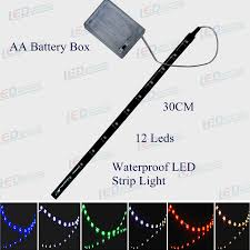 led battery operated strip lights camping light 30cm battery operated waterproof led strip light