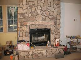 stone fireplace wall stone fireplace ideas for natural look