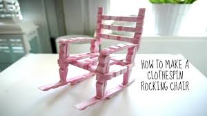 diy rocking chair from clothes pins youtube