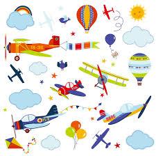 amazon com cherrycreek decals transportation and city scene kids airplanes nursery nursery boys room peel stick wall art sticker decals