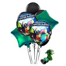 minecraft balloons minecraft balloon bouquet black this party started