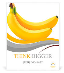 two bananas isolated on white background poster template u0026 design