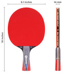 Table Tennis Dimensions Ping Pong Paddle