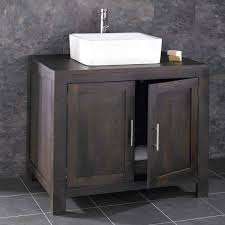 Alta Solid WENGE Oak Double Door Bathroom Vanity Unit - Solid wood bathroom vanity uk