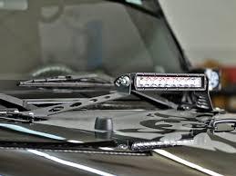 jeep jk hood led light bar rigid 40332 10 inch led light bar hood mount jeep wrangler jk