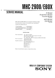 sony mhc e60x service manual immediate download