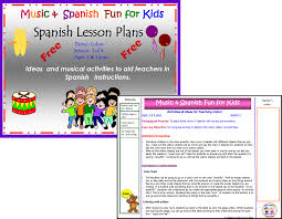 music and spanish fun free spanish lesson plan 1