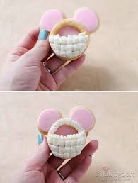 3d mickey mouse easter basket cookies