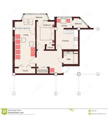 One Bedroom Apartment Plans One Bedroom Apartment Plan Stock Photos Image 24092663