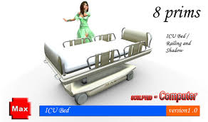 Hospital Couch Bed Second Life Marketplace Hospital Bed U0026 Icu Bed Version 2 0