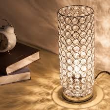 zeefo crystal table lamp sturdy decorative room lamp night light