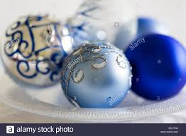 Blue White Christmas Decorations by Blue Silver And White Christmas Decorations Stock Photo Royalty