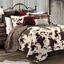 cow print bedding includes a reversible quilt u0026 pillow shams cow