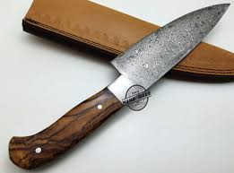 custom made kitchen knives regular damascus kitchen knife custom handmade damascus steel4
