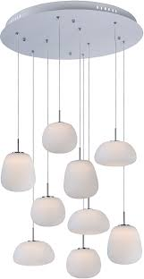 Multi Pendant Lighting Fixtures Et2 E21127 11wt Puffs Contemporary Matte White Led Multi Hanging