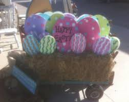 Easter Egg Yard Decorations by Wooden Easter Sign Etsy