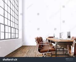 interior modern meeting room panoramic windowsblank stock