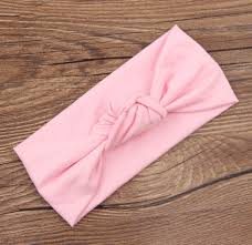 baby headwrap headband baby wrap children tie knot band knitted cotton