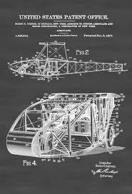 1917 curtiss aeroplane patent print vintage airplane airplane