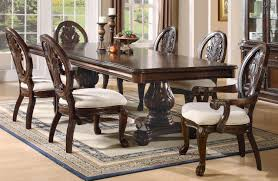 coaster tabitha double pedestal dining table set