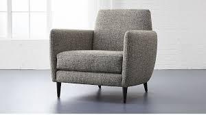 Pepper Chair Grey Parlor Chair Cb2