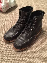s boots wedge chippewa moc toe wedge boots 9 wing black leather engineer