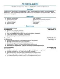 Wedding Planner Resume Sample by Impactful Professional Administration U0026 Office Support Resume