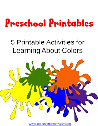 preschool printables learning colors christian homeschool family