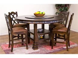 60 Round Dining Room Tables Dining Table Set With Lazy Susan Dining Room Amazing Rustic