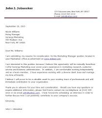 marketing cover letter example sample pertaining to 21 awesome