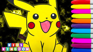 pokemon coloring book pages pikachu speed colouring drawing