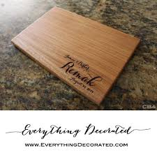 wedding cutting board engraved cutting board personalized cutting board housewarming