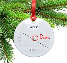 math christmas ornaments amazon com