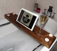 Teak Bath Caddy Australia by Bathroom Unique And Handmade Bathtub Wine Holder Designs