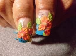 3d flowers on thumbs nail art gallery