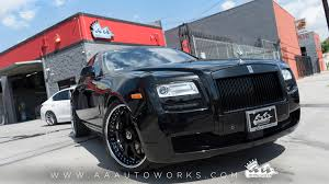 rolls royce chrome rolls royce ghost on forgiato