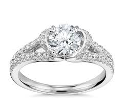 truly zac posen lotus pavé diamond engagement ring in platinum