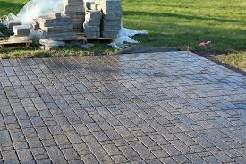 How To Lay Flagstone Patio How To Build A Paver Patio With A Built In Fire Pit